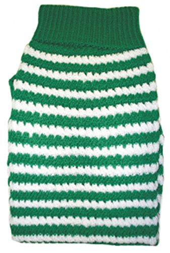 Amazing Pet Products Green W/White Stripe Dog Sweater Size 26 by Amazing Pet Products