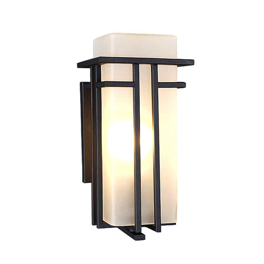 ウォールランプ、LEDスクエアモダン屋外防水屋外バルコニーガーデンウォールランプ、廊下通路ウォールランプ B07TS6V8FS