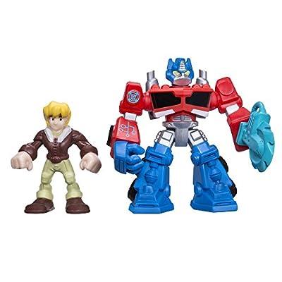 Playskool Heroes Transformers Rescue Bots Optimus Prime and Cody Burns Figure Pack