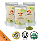 ON SALE - 3 Pack (Refill Pack) ZENDORI Matcha Green Tea Powder - Organic Culinary Grade from Japan - Perfect For Matcha Lattes, Green Smoothies, Baking Healthy Treats , 3.5oz/100g