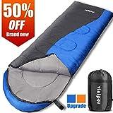 VINIPER Sleeping Bag, Comfort Waterproof and Lightweight Envelope Sleeping Bag With Compression Sack
