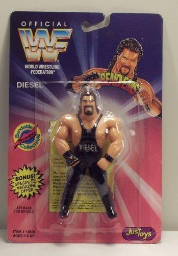 (WWF / WWE Wrestling Superstars Bend-Ems Figure Series 1 Diesel)