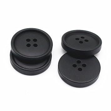 YaHoGa 50 piezas Negro plástico Botones 25 mm Resin Botones para trajes Chaquetas abrigos Uniforme: Amazon.es: Hogar