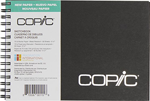 Copic Marker Sketchbook, 5 by 7-Inch, 50 Sheets