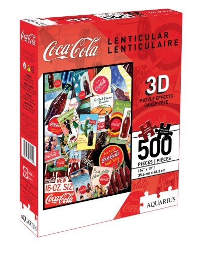 Aquarius Coca-Cola 500 Piece 3D Lenticular Jigsaw Puzzle (Coca Cola Puzzle 500 Piece)