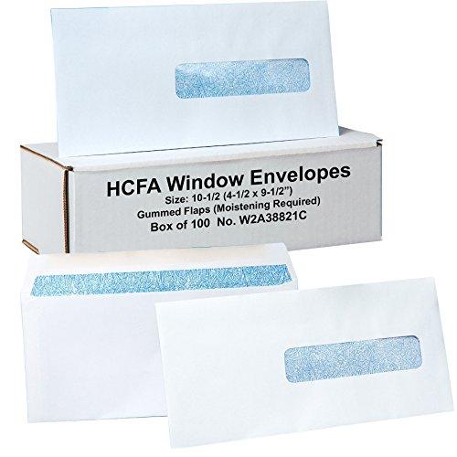 Hcfa Envelopes, Window Style, Size: 10-1/2 (4-1/2 X 9-1/2