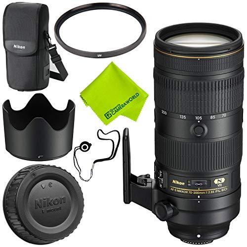 Nikon AF-S NIKKOR 70-200mm f/2.8E FL ED VR Lens Base Bundle (Nikon 70 200mm F 2-8 Ed Vr)