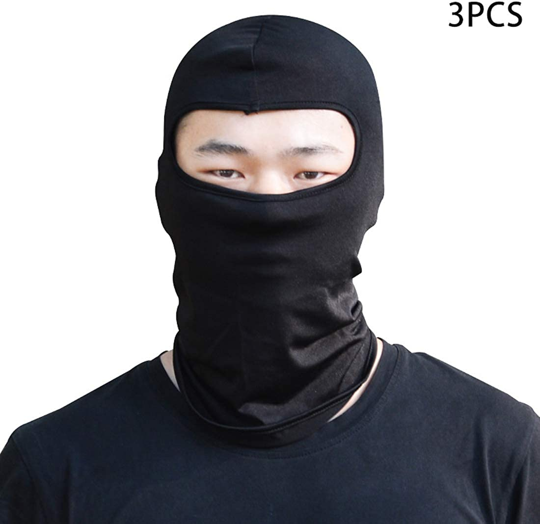 3pcs Unisex Stretchable Balaclava Hat Face Shield Mask Dust-Proof Thin Neck Gaiter Breathable Sun Protection for Outdoor
