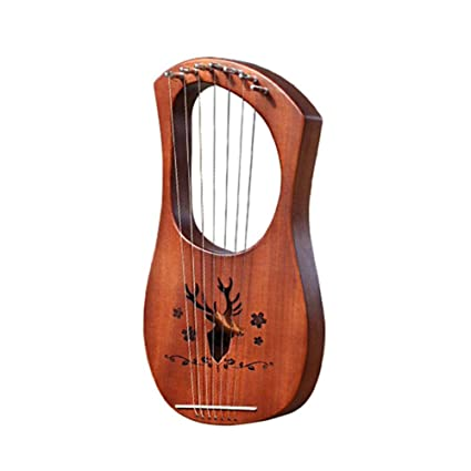 Aitravel Seven-stringed Small Harp Greek Musical Instruments