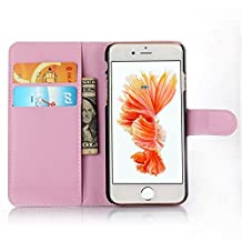 ihpone 6 Case,Hankuke Art Graphic PU Leather Magnet Flip Case with Kickstand and Card Holder for iPhone 6 (4.7-Inch) (pink)