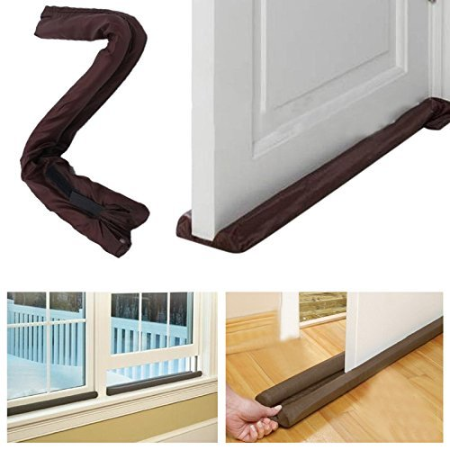 Buzfi Amazing Twin Door Draft Dodger, Guard Stopper, Money-Energy Saving Home Decor, Door Draft Stopper