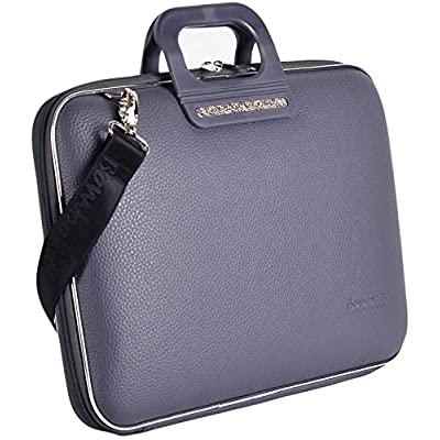 best Bombata Bag Firenze Briefcase for 17 Inch Laptop - Charcoal