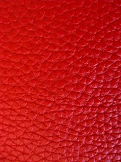 Faux Leather Fabric Calf Atomic Red