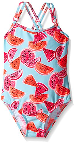 Osh Kosh Little Girls Watermelon One Piece Swimsuit, Multi, 5