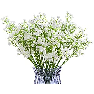 Foraineam 12-Pack Baby Breath Artificial Flowers Bouquets Real Touch Wedding Home Garden Party Decor Gypsophila Fake Plants 7