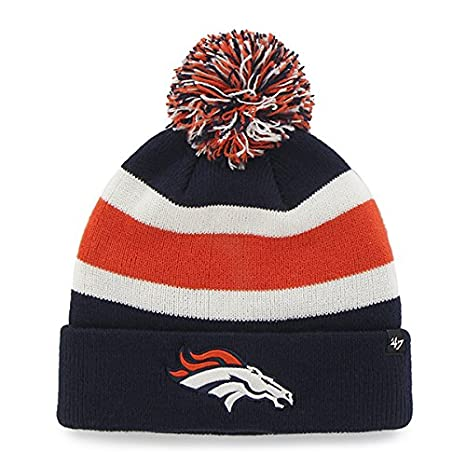 95cb0dd3d Amazon.com : '47 Denver Broncos Navy Blue Cuff Breakaway Beanie Hat ...