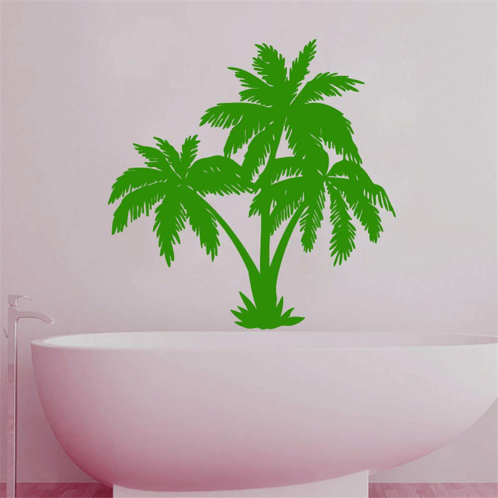 wlwhaoo Baño Azulejo Etiqueta de La Pared Palmera Impermeable ...