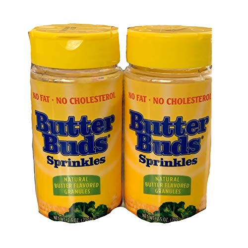 Butter Buds Sprinkles Natural Butter Flavored Granules | 2.5 oz Bottle | Pack of 2 | Butter Flavor Great For Potatoes, Vegetables, and Much More