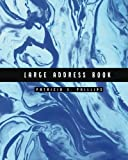 Large Address Book: Light Blue Marble | Large Address Book for Seniors – Contacts, Addresses, Phone Numbers, Email – Organizer Journal Notebook