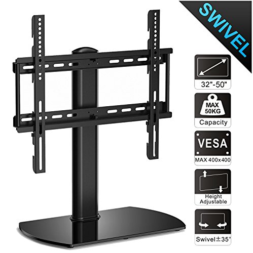 FITUEYES Universal Pedestal TV Stand with Swivel Mount for 32 to 50 inch...