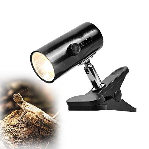 LUCKSTAR Reptile Lamp Holder - 360-degree Rotating Adjustable Habitat Lighting & Heat Clamp Lamp Fixture - UV UVB Infrared Emitter Heat & Light Stand For Tortoise / Lizard / Gecko 7% Uvb Lamp
