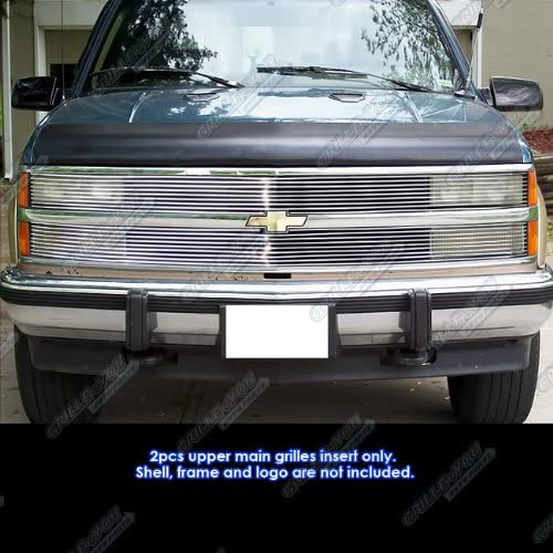 APS Compatible with 1988-1993 Chevy C K Pickup 1992-1993 Suburban Blazer Phantom Billet Grille Grill Insert S18-A54258C