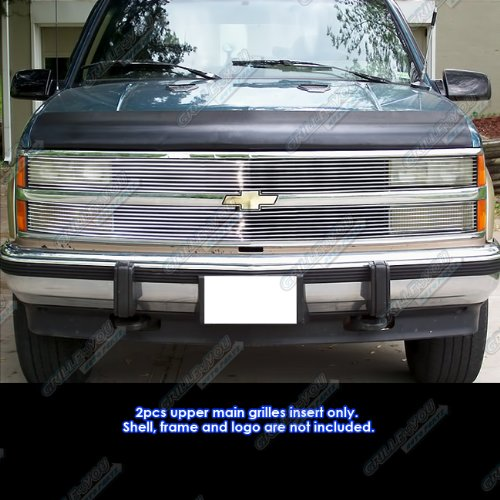 APS Compatible with 1988-1993 Chevy C/K Pickup/92-1993 Suburban/Blazer Phantom Billet Grille Grill Insert # -