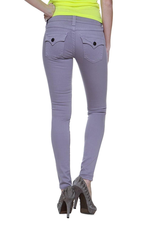 True Religion Damen Jeans Skinny Skinny Jeans SERENA MID RISE SPR SKI Wash HW DUSK , Farbe: Grau