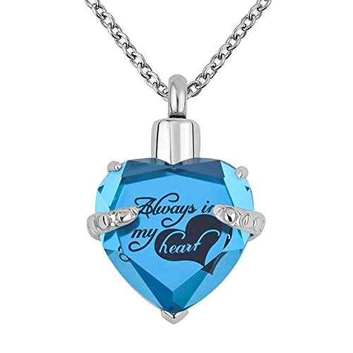 53902d1dff3a7 Lantern Low 12 Colors Heart Crystal Cremation URN Necklace for Ashes  Jewelry Memorial Keepsake Pendant