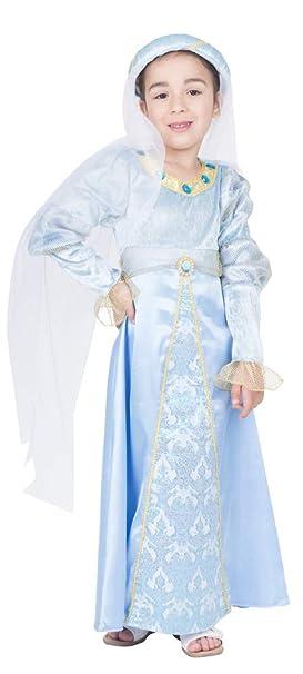 Das Kostümland Disfraz de Castle Miss Binia para niña - Vestido ...
