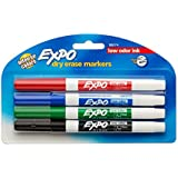 Amazon.com: Expo Low-Odor Dry Erase Markers, Fine Point, 8-Pack ...