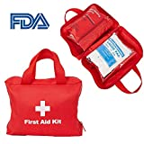 Livebest First Aid Kit Emergency Survival Kit Medical Box & Bag for Home,Car,Camping,Sports,Workplace,Office,Traveling,School (Red)