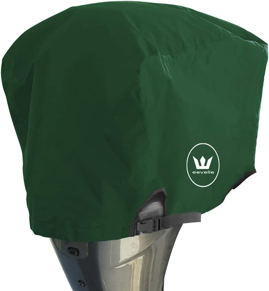 Windstorm Outboard Boat Motor Covers Heavy Duty 600D Polyester Marine Canvas - 9 Colors