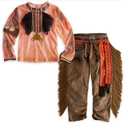 Disney Exclusive The Lone Ranger Deluxe TONTO Costume and Headdress Set (Child Size 4)