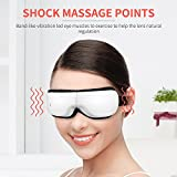 head and eye massager - BROMOSE Eye Massager USB Electric Music Therapy Stress Relief Foldable for Eye Care Air Pressure Heat Compression Vibration Temple Massage Headache Relief Foldable Machine for Eye Dark Circle