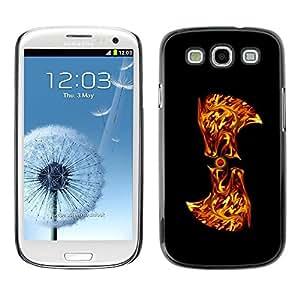 Be Good Phone Accessory // Dura Cáscara cubierta Protectora Caso Carcasa Funda de Protección para Samsung Galaxy S3 I9300 // Flaming Abstract