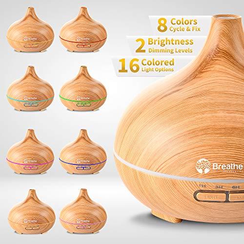 Breathe Essential Oil Diffuser, 6 Hour Mini Diffusers for