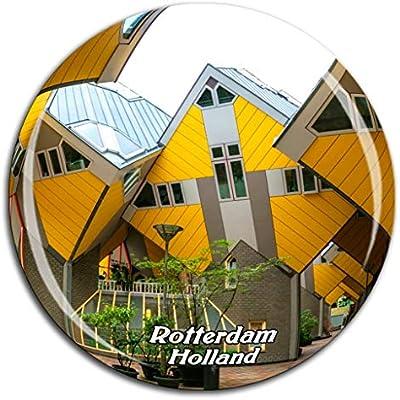 Weekino Casa cúbica Rotterdam Holanda Holanda Imán de Nevera ...