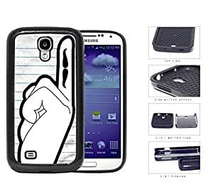 Students Hand Raised With Mustache On Finger 2-Piece Dual Layer High Impact Rubber Silicone Cell Phone Case Samsung Galaxy S4 SIV I9500