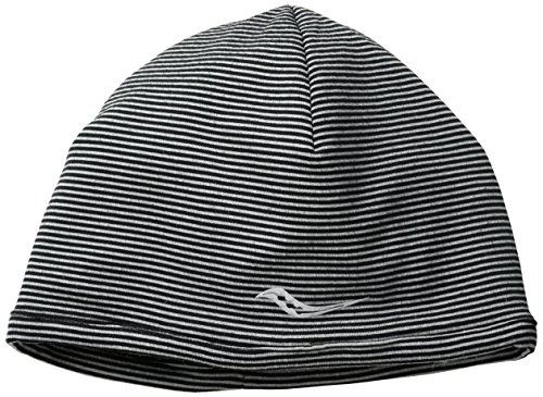 Saucony Swift Skull Cap, Black/Heather Grey, One Size