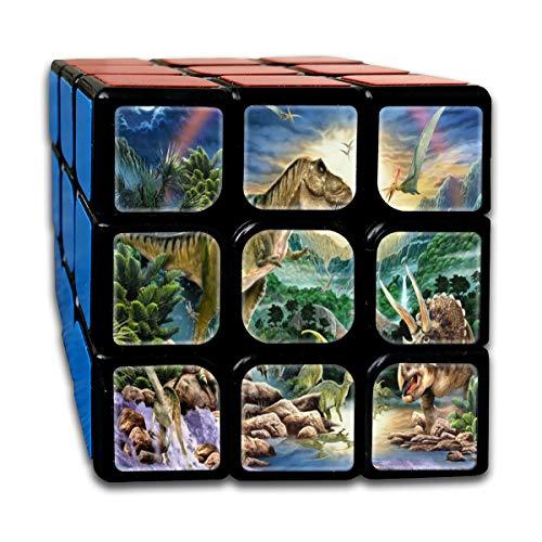 S RAINBOW Animals Sky Fantastic Speed Cube 3x3 Smooth Magic Cube Puzzle Game Black ()