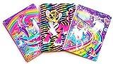 Lisa Frank 1 Subject Wide Ruled Notebook (3 Pack) Kittens, Unicorns and Giraffe