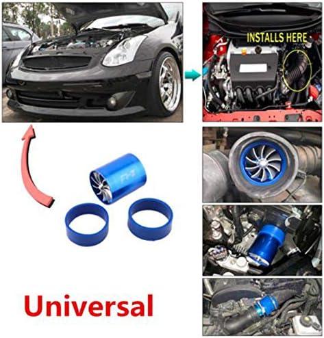 MEYLEE Doppelventilatoren F1-Z Universal-Lufteinlass-Single Turbonator Turbo-Kraftstoff Gas-Sparer-Aufblasbeschleunigungsrohr