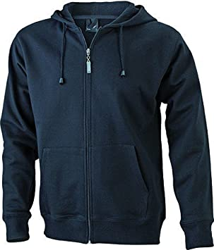 JN042-1 Men´s Hooded Jacke Sweatjacke Kapuze Sweatshirt, Farbe:black;