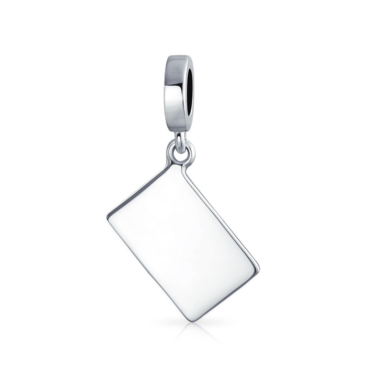 Big Spender Dangle Cash Credit Card Charm Bead For Women Teen 925 Sterling Silver Fits European Bracelet
