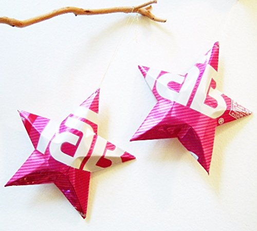 Tab Soda Can Stars, Recycled Aluminum Soda Can Stars, Upcycled Can, Christmas - Can Aluminum Ornaments
