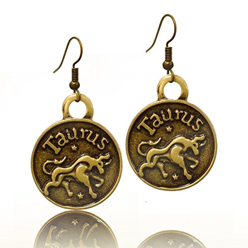 Stay Calm TAURUS Zodiac Sign Astrology Horoscope Hook Earrings Birthday Gift - All 12 Sun Signs Available (Taurus)