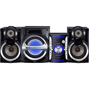 Panasonic SC-AKX73 2.1-Channel 850-Watt Shelf Audio System with 3-Way Front Speakers and Super Subwoofer (Discontinued by Manufacturer)