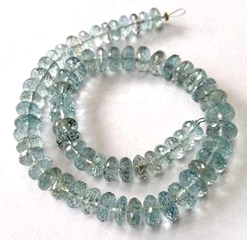 Moss Aquamarine Faceted Beads Moss Aquamarine AA Quality Gemstone Beads  Bead Size 3.5-5.5 mm Moss Aquamarine Round Shape Beads