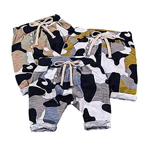 Taiycyxgan Baby Boys Shorts Cotton Camouflage Infant Elastic Trousers Hiphop Harem Pants Green 1T